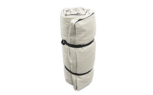 Futon Portatile Bianco ecru, 200x120x3 cm Futon On Line