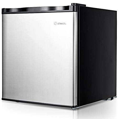 1.1 cu.ft. Compact Single Door Mini Upright Freezer Adjustable Removable Shelves Unique Design