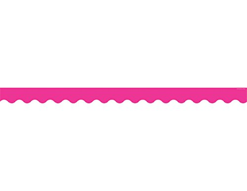 Teacher Created Resources Hot Pink Scalloped Border Trim (5582) (Hot Pink Border)