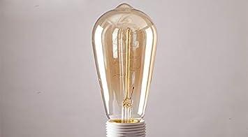 Ampoule /à Incandescence Industrielle Antique r/étro Lampe lumi/ère Moyenne E27 /à intensit/é Variable R/êveRose Ampoule Vintage Edison 40 W