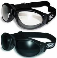 (2 GOGGLES) Motorcycle ATV Riding Clear and Super Dark Glasses Sunglasses