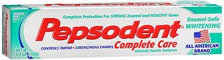 (Pepsodent Complete Care Enamel-Safe Whitening Anticavity Fluoride Toothpaste Smooth Mint Flavor - 5.5 oz, Pack of 6)