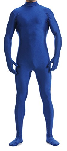 Superman Second Skin Costume (VSVO Unitard Skin-tight Solid Color Dance Wear for Adults and Children (Medium, Deep Blue))