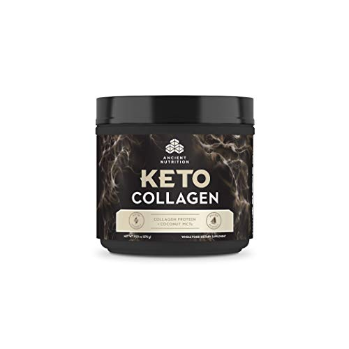 Ancient Nutrition KetoCOLLAGEN, Keto Diet Supplement, Types I, II, and III Collagen Plus MCTs, Pure Flavor, 15 Servings, 9.5 oz