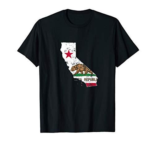 California State Flag TShirt Vintage Distressed CA Flags T-Shirt