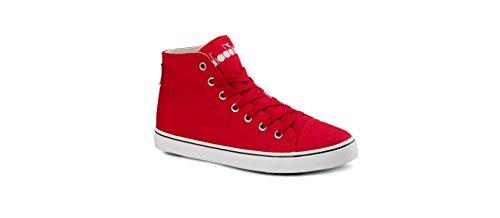 Diadora Skor Kör Sneaker Jogging Kvinnor Clipper C Hög W Rött Band Storlek Rosso