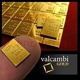 1 Gram Gold Bar - Valcambi Combibar Official 99.99% Pure Gold Bar