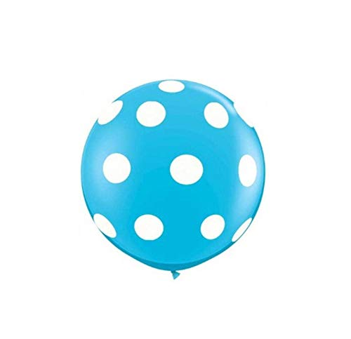 Light Blue Polka Dot Latex Balloon Made in USA 36 Inch or 11 Inch (36