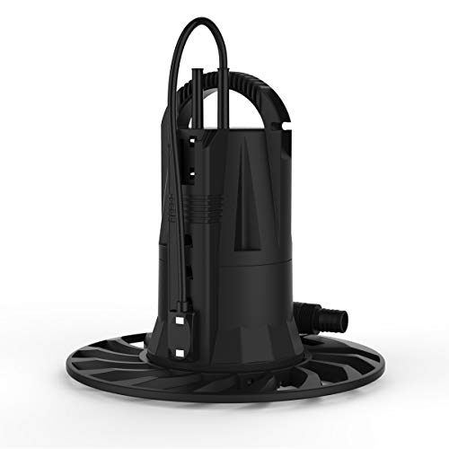 BACOENG 1/2 HP Automatic ON/OFF Water Removal Pool Cover Pump 1320GPH w/ 32.8ft Cord