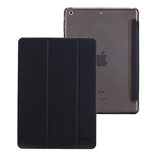 IPad Air Case,THZY Trifold Case Smart Cover for IPad Air - Mysterious Black