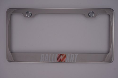 Mitsubishi Ralliart Chrome License Plate Frame with Cap …