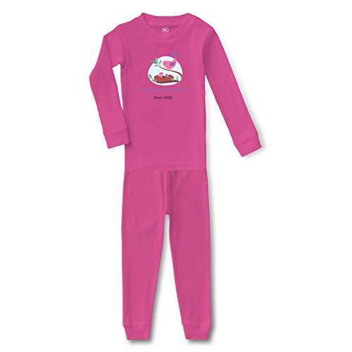 Personalized Custom Home Birds Feeding Chicks Family Love Cotton Crewneck Boys-Girls Infant Sleepwear Pajama 2 Pcs Set - Hot Pink, 6 Months ()