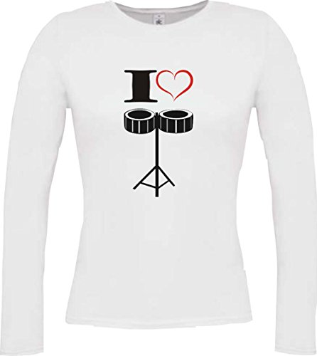 Shirtstown - Camiseta de manga larga - Manga Larga - para mujer blanco
