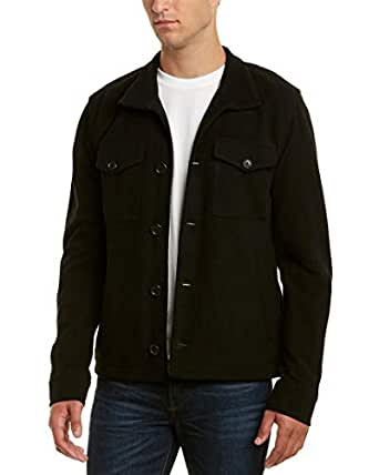 James Perse Mens Jacket, 3, Black
