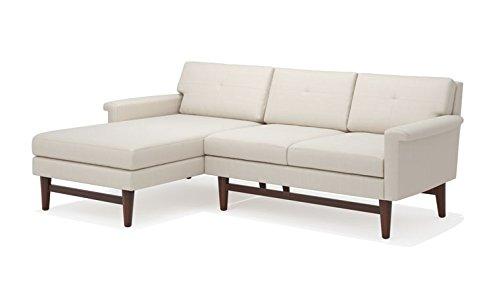 Amazon.com: TrueModern Diggity Fabric Sofa with Chaise ...