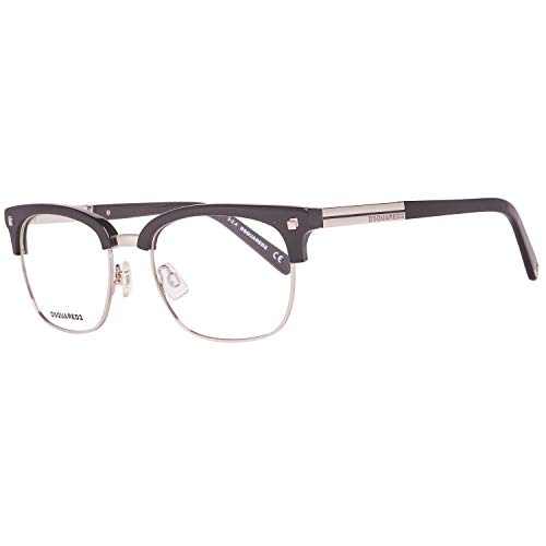 Dsquared2 Unisex DQ5148 Optical Acetate Frames BLACK 51 (Brille Silber)