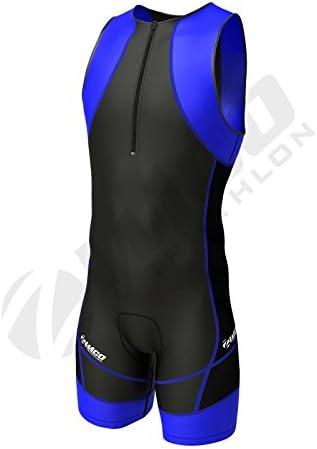 Zimco Compression Triathlon Suit Racing Tri Suit Bib Short Cycling Swim Run