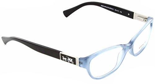 Coach Emma Eyeglasses HC6061 5259 Milky Blue/Black 50 15 - Eyeglass Frames Blue Coach