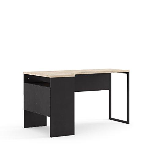 (Tvilum 80118gmak Wayland 2 Drawer Desk Black Matte/Oak Structure)