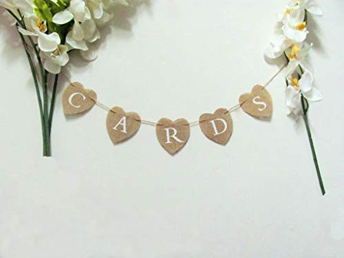 Eternity Unity Candle - Cards Garland Rustic Wedding Burlap Banner Bunting Party Sign Photo Props