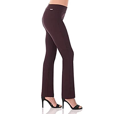 Rekucci Women's Ease Into Comfort Straight Leg Pant with Tummy Control at Women's Clothing store