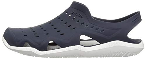 Crocs Men's Swiftwater Wave M Sport Sandal Navy/White 4 M US by Crocs (Image #5)