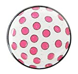 Navika Glitzy Polka Dot (White & Pink) Marker with Magnetic Hat Clip