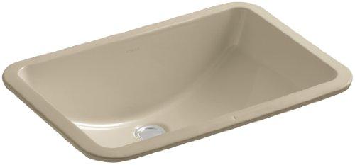 KOHLER K-2214-G-33 Ladena 20-7 8 x 14-3 8 Undermount Bathroom Sink with Glazed Underside, Mexican Sand