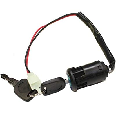 2-Wire Black Ignition Key Switch (Snap on style) for Electric Scooter : Sports & Outdoors