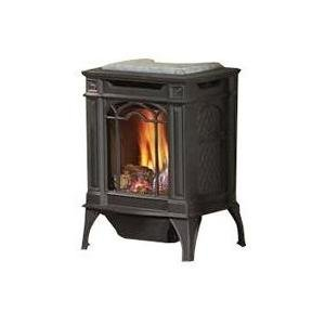 Brown Gas Stove - Arlington Direct Vent Cast Iron Gas Stove Color: Black, Fuel Type: Natural Gas