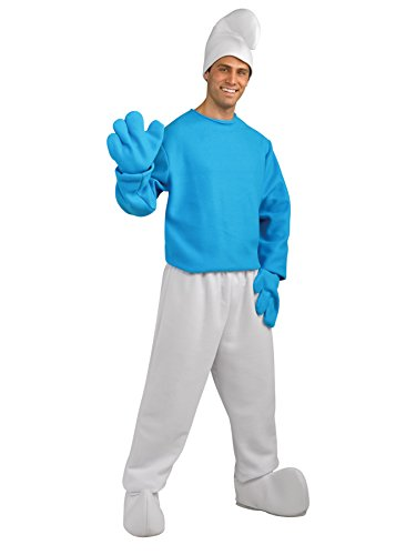 Rubie's Costume Co Smurf Deluxe Adult Costume, Smurfs: The Lost Village, Standard