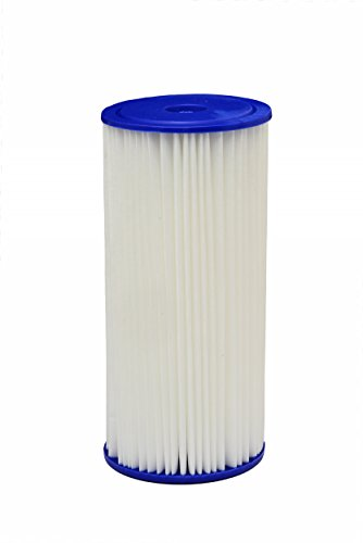 HDX HDX4PF4 Pleated High Flow Whole House Water Filter: Reduces Sediment - 30 Micron Water Filter