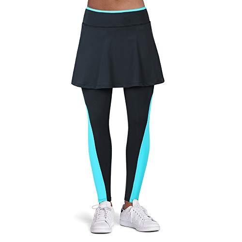 ANIVIVO Women Skirted Leggings, Tennis Leggings with Skirts& Workout Active Full Length Skirted Tight Pants Running Skirted Leggings Tennis Clothings(Blue,S)