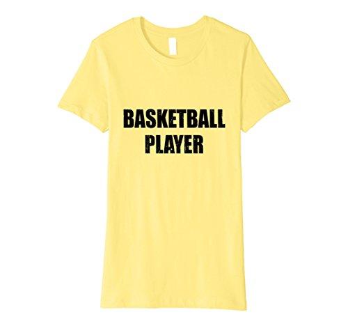 Basketball Player Costume Female (Womens Basketball Player Shirt Halloween Costume Funny Distressed Small Lemon)
