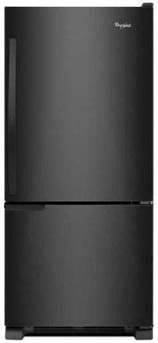 Whirlpool WRB119WFBB 18.5 Cu. Ft. Black Bottom Freezer Refrigerator - Energy Star