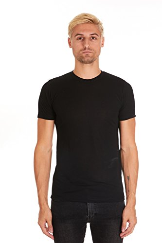 Pacific Men's Super Soft Rayon Short-Sleeve Crew-Neck T-Shirt (XX-Large, Black) ()