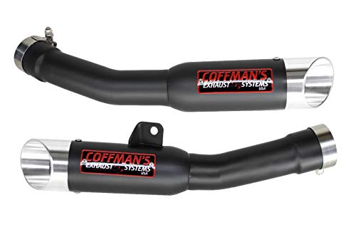 Coffman's Shorty Slip-On Exhausts for Kawasaki Ninja ZX14 ZX14R 2008-2011 Sportbike with Polished Tips