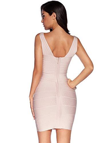 Robes V En Beige Courte Sans Mode Féminine Moulante Bobolily Élégante Style De Robe Spécial Col Bal Soirée Manches Cocktail UXqx47S