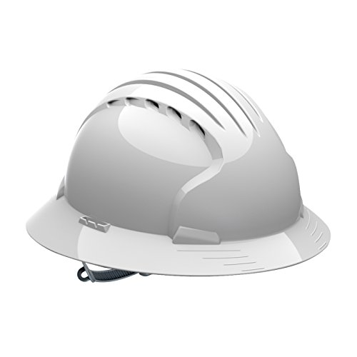 Evolution Deluxe 6141 280-EV6141V-20 Vented, Full Brim Hard Hat with HDPE Shell, 6-Point Polyester Suspension and Slip Ratchet Adjustment by Evolution Deluxe 6141