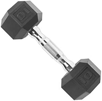 CAP Rubber Coated Dumbbell Weights (10 Pound)