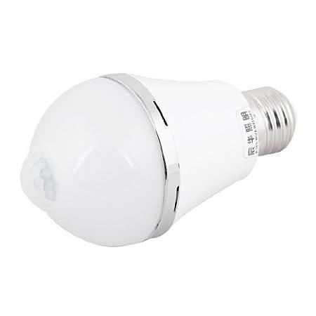 7 W Sound Light Sensor Control Led Bulb E27 White Light Ac 85 265 V