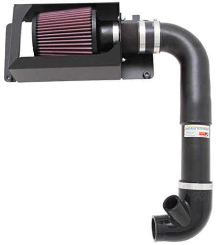 K&N Cold Air Intake Kit with Washable Air Filter:  2007-2010 Mini Cooper S, 1.6L L4,  Black Metal Finish with Red Oiled Filter, 69-2004TTK ()