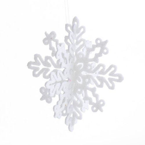 - Package of Glistening 3D Hanging Snowflake Decorations 24 Ornaments