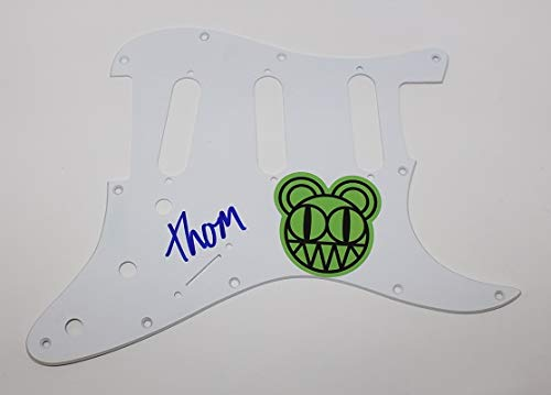 Radiohead Ok Computer Thom Yorke Signed Autographed Fender Stratocaster Electric Guitar Pickguard Loa