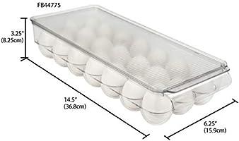 Home Basics NEW Clear Plastic 21 Egg Eggs Storage Organizer Holder FB44775