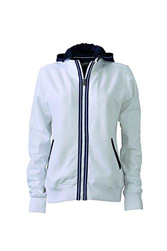 James & Nicholson–Chaqueta con capucha N9294 blanco/azul marino