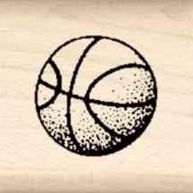 Basketball Stamp - Stamps by Impression LT 42 Basketball Rubber Stamp
