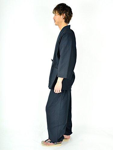 Edoten Men's Japan Kimono Ninjya Cotton100% Samue Nevy XXL by Edoten (Image #4)