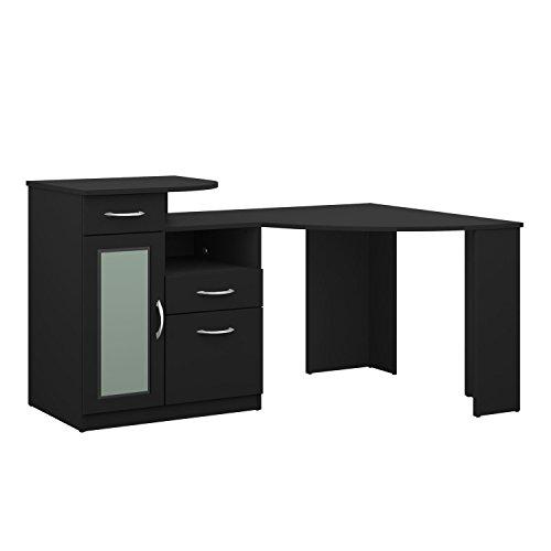 Bush Industries Vantage Corner Computer Desk in Black, Home