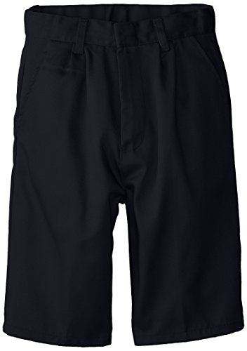(6114) Genuine School Uniforms Boys Pleated Front Short (Sizes 4-16) in Navy Size: - Pleated Shorts Uniform School Boys